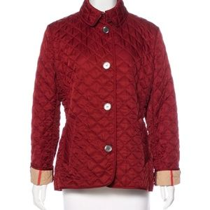 Auth. Burberry Quilted Coat Size L